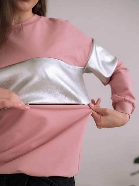 Свитшот «Белла» пыльная роза для кормящих мам и беременных