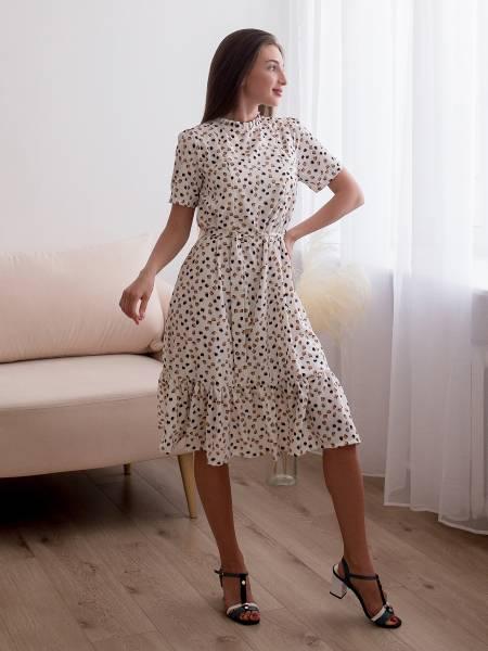 Платье «Венера» белое для кормящих мам и беременных
