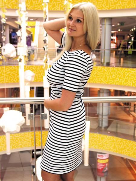 Платье в полоску для кормящих мам и беременных