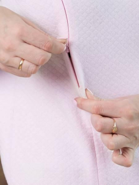 Костюм «Серый меланж с розовым» для кормящих мам и беременных