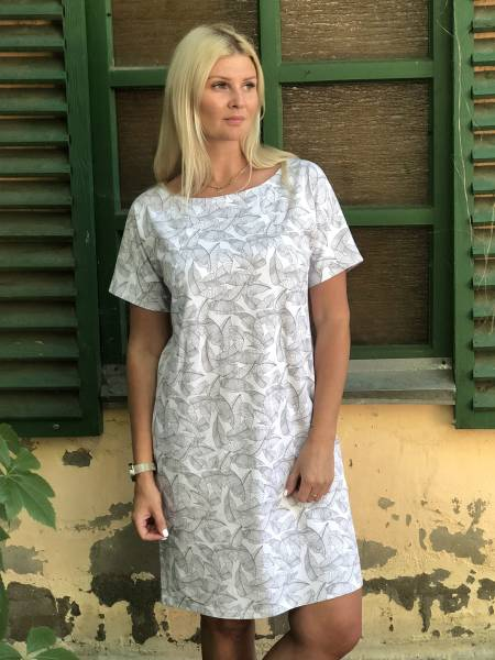 Платье-туника «С пальмовыми листьями» для кормящих мам и беременных