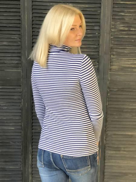 Водолазка в синюю полоску для кормящих мам и беременных