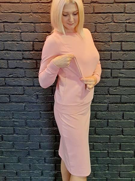 Костюм «София» тройка (свитшот, брюки, юбка) для кормящих мам и беременных