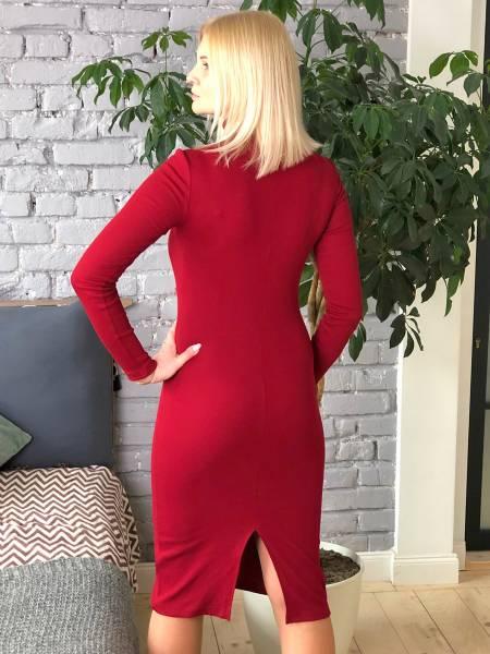 Платье-водолазка «Бордовое» для кормящих мам и беременных