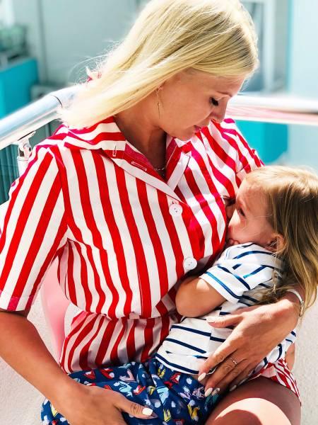 Платье-рубашка из хлопка для кормящих мам и беременных