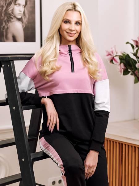 Костюм «Кайли» черно-розовый для кормящих мам и беременных