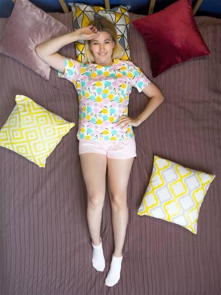 Пижама с пуговками для кормящих мам и беременных